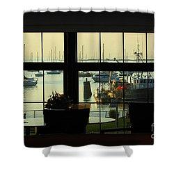 Window Painting Shower Curtain