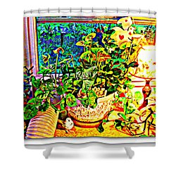 Window Plant Shower Curtain