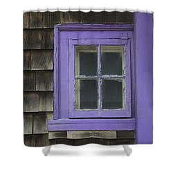 Purple Window - Window Series 04 Shower Curtain
