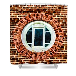 Shower Curtain featuring the photograph Window Shapes In And Around by Gary Slawsky
