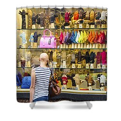Shower Curtain featuring the photograph Window Shopper by Pravine Chester
