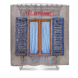 Window Sketch Of Tuscany Shower Curtain