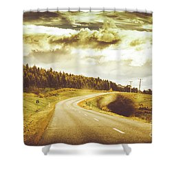 Window To A Rural Road Shower Curtain