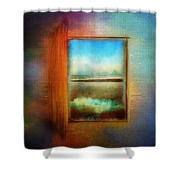 Window To Anywhere Shower Curtain