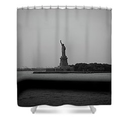 Shower Curtain featuring the photograph Window To Liberty by David Sutton