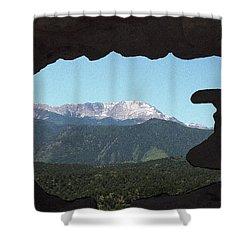 Window To Pikes Peak Shower Curtain