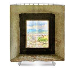 Window To Salzburg Shower Curtain