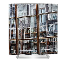 Window To The Past Shower Curtain by AJ Schibig