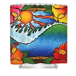 Window To The Tropics Shower Curtain