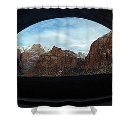 Window To Zion Shower Curtain