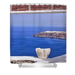 Window View To The Mediterranean Shower Curtain
