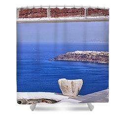 Window View To The Mediterranean Shower Curtain