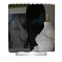 Window Wedding Attire Shower Curtain