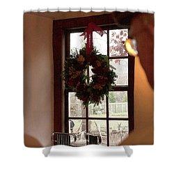 Window Wreath Shower Curtain