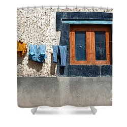 Shower Curtain featuring the photograph Window by Yew Kwang