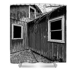 Shower Curtain featuring the photograph Windows 3 by Alan Raasch