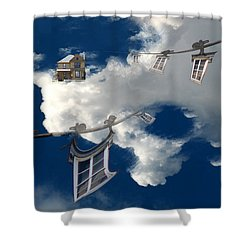 Windows And The Sky Shower Curtain by Christopher Woods