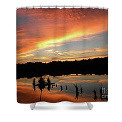Windows From Heaven Sunset Shower Curtain