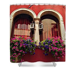 Windows In Venice Shower Curtain by Tamara Sushko