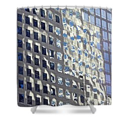 Shower Curtain featuring the photograph Windows Of 2 World Financial Center 2 by Sarah Loft
