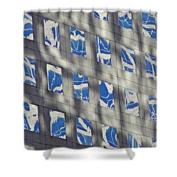 Shower Curtain featuring the photograph Windows Of 2 World Financial Center 3 by Sarah Loft