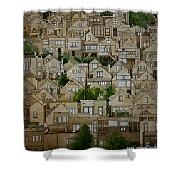 Windows Of Bernal Heights Shower Curtain