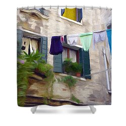 Windows Of Venice Shower Curtain