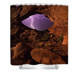 Shower Curtain featuring the photograph Windows Storm by Darren White