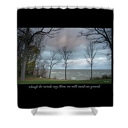 Winds May Blow Shower Curtain