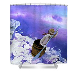 Shower Curtain featuring the painting Winds Of Fate  by Rene Capone