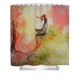 Winds Of Freedom Shower Curtain by Mona Davis
