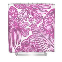 Shower Curtain featuring the drawing Winds Tess by Edward Fielding