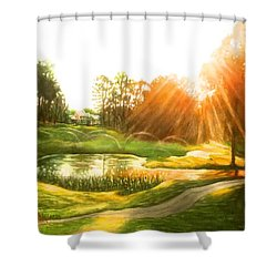 Windstone 13th Green Shower Curtain