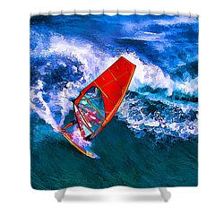Windsurfer 1 Shower Curtain by ABeautifulSky Photography
