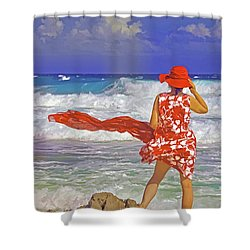 Windswept Shower Curtain by Dennis Cox WorldViews