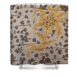 Windswept Golden Plantae #4 Shower Curtain by Rachel Hannah
