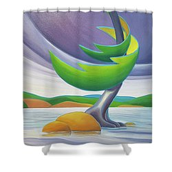 Windswept II Shower Curtain