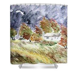Windswept Landscape Shower Curtain