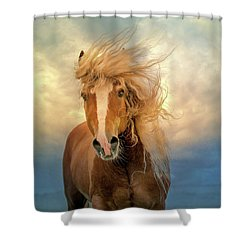 Shower Curtain featuring the digital art Windswept by Nicole Wilde