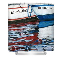 Windswept Reflections Sold Shower Curtain by Lil Taylor