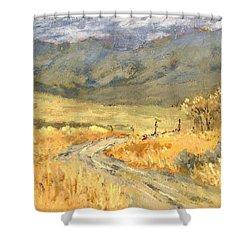 Windy Autumn Shower Curtain