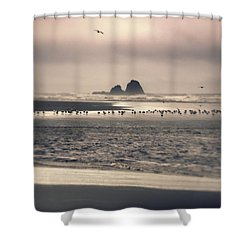 Shower Curtain featuring the photograph Windy Balmy Day At The Beach by Tikvah's Hope