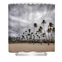 Windy Beach Shower Curtain