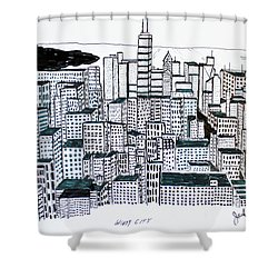 Windy City Shower Curtain by Jack G  Brauer