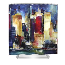 Windy City Nights Shower Curtain