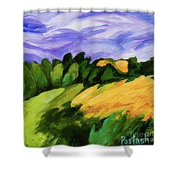 Shower Curtain featuring the painting Windy by Igor Postash
