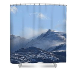 Windy Pikes Peak  Shower Curtain