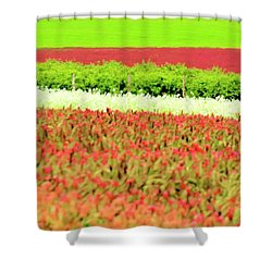 Shower Curtain featuring the photograph Wine And Clover by Jerry Sodorff