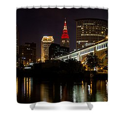 Wine And Gold In Cleveland Shower Curtain