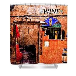 Shower Curtain featuring the photograph Wine Bar Of The Southwest by Barbara Chichester